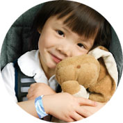 Little girl wearing Sea-Bands for motion sickness
